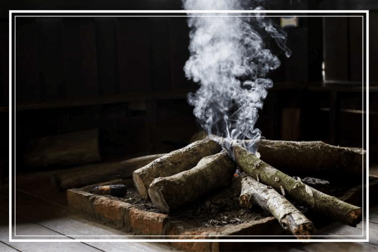 asap kayu