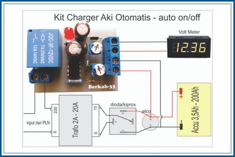 rangkaian charger otomatis