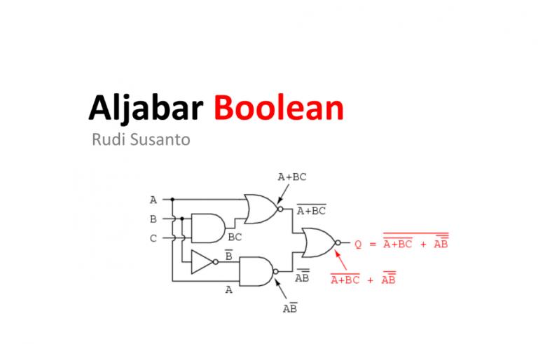pengertian Aljabar Boolean